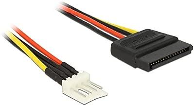 DeLOCK 0.24m SATA 15p / 4p 0,24 m - Cables de alimentación Interna (0,24 m, SATA de 15 Pines, 4-Pin PWM, Male Connector/Male Connector, Derecho, Derecho)