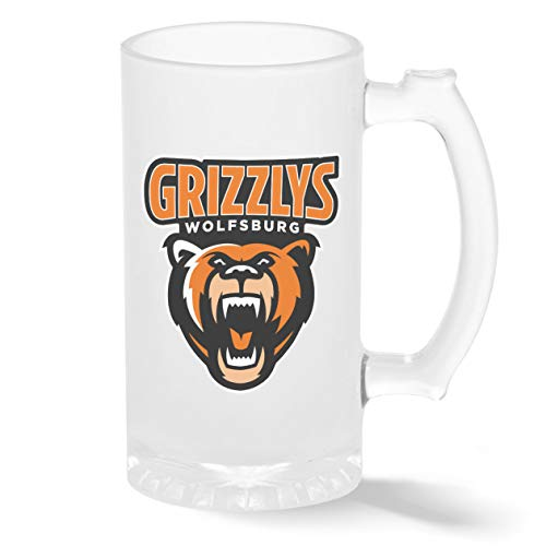 Ice Hockey Team Grizzlys Wolfsburg Eishockey Pint Glasbecher Gefrosteter Transparenter Stein Mug Neuheit Krug für Bier 500ml