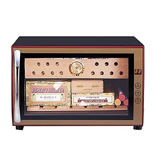 YANGDONG- Cigarro electrónico, gabinete de cigarro de madera inteligente de la temperatura constante, con caja de humidificación de madera de cedro (color: negro, tamaño: 41 * 55 * 27,5cm) OUZDXJG-5