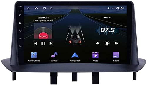 LYHY 9 Pollici Full Touch Screen Android 9.1 Navigazione multimediale per Renault Megane 3 2009-2014, RDS FM AM Car Retaway con Sistema GPS, Supporta DSP USB ECC, 4 Core, WiFi: 1 + 16 GB