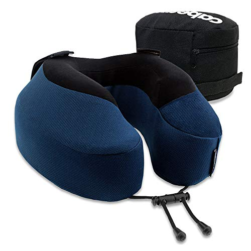Cabeau Evolution S3 Travel Pillow – Straps to Airplane Seat – Ensures Your Head Won't Fall Forward – Relax with Plush Memory Foam – Quick-Dry Fabric Keeps You Cool and Dry (Indigo)…