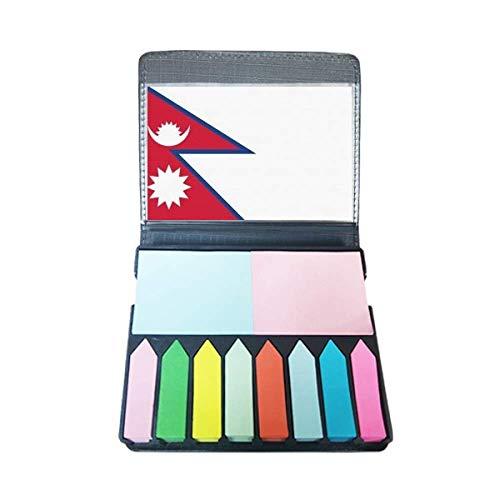 Nepal nationale vlag Azië land zelfklevende notitie kleur pagina markeerdoos