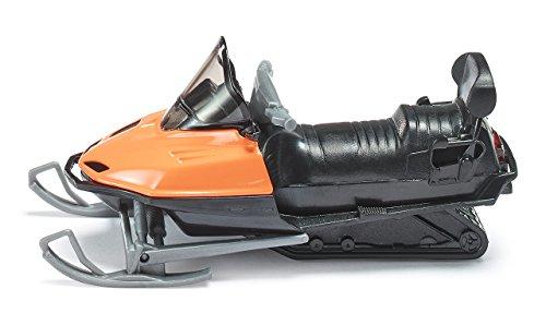 SIKU 0860, Snowmobil, Metall/Kunststoff, Orange/Schwarz, Spielzeugfahrzeug für Kinder