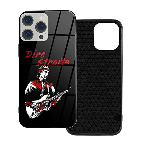 HPOFKEOEF Dire Straits Logo Personality iPhone 12 Series Glass Phone Case Shockproof Protective Cover Ip12pro Max-6.7