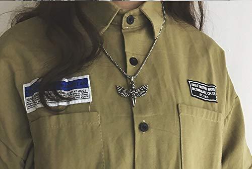 QiaoShiRen Colgante de Plata 925 Collar de Mujer Collar de Mujeres Angel Collar Colgante Ladies Joyas joyería de Plata Joyería de aleación Collares Pendientes (Metal Color : Silver Color)