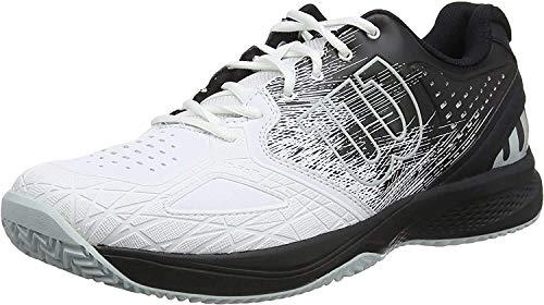 Wilson Kaos Comp 2.0, Zapatilla de Tenis, para Todo Tipo de Superficies, tenistas de Cualquier Nivel para Hombre, Blanco/Negro/Azul, Claro número 42 2/3 EU