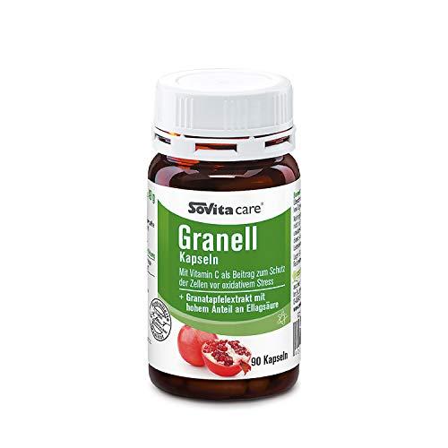 Granell Kapseln | Granatapfelextrakt mit hohem Anteil an Ellagsäure | Nahrungsergänzung | 90 Kapseln