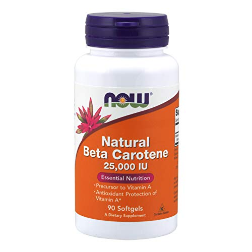 NOW Supplements, Natural Beta Carotene 25,000 IU, Essential Nutrition, 90 Softgels