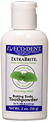 Eco-Dent International Tooth Whitener/Mint Powder 2 Oz (Pack of 3)