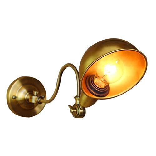 DINGYGJ Lámpara de Pared Retro, Bronce Ajustable Antiguo Forjado Industrial del Hierro de Pared Creativo de la luz E27 Edison lámpara de Pared, Conveniente for la Sala de Estar Dormitorio del Pasillo