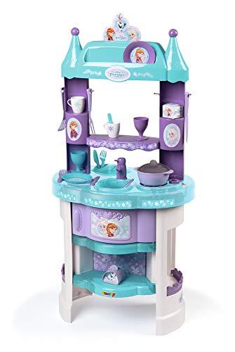 Smoby 311701 Frozen Elsa, Anna und Olaf Spielküche im Frozen Design mit viel Zubehör, mehrfarbig
