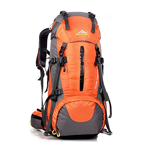 OCCIENTEC Hiking Backpack 50L Mountaineering Backpack 60L Rucksacks with Rain Cover for Men Women,Tear and Water-resistant Ideal for Camping Climbing Biking Trekking Travel Outdoor (Orange2, 50L)