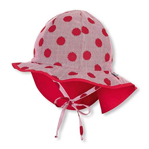 Sterntaler Flapper für Mädchen mit Bindebändern, Nackenschutz und Punktemuster, Alter: 9-12 Monate, Größe: 47, Rot
