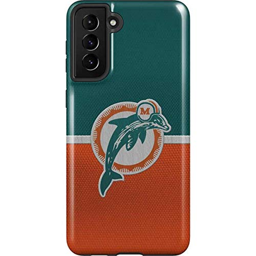 Skinit Pro Phone Case Compatible with Galaxy S21 Plus 5G - Officially Licensed NFL Miami Dolphins Vintage Design