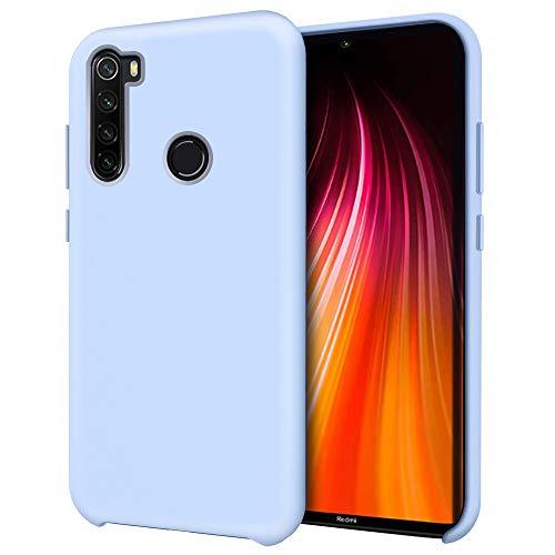 Oureidoo Funda para Xiaomi Redmi Note 8, Funda para Silicona Líquida con [Tacto Agradable] [Protección contra Caídas] [Anti-Arañazos] para Xiaomi Redmi Note 8 6.3'-Azul Claro