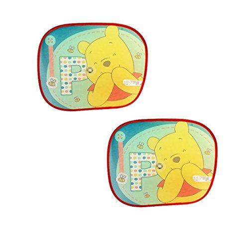 Lot de 2 pare-soleil pliables Disney Winnie l'ourson pour voiture