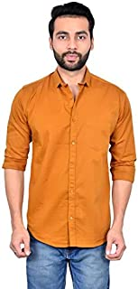 MOUDLIN Solid Men's Spread Collar Casual Fullsleeve Shirt by Maruti Online