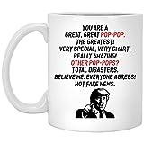 N\A Taza de café Pop-Pop: Eres un Gran, Gran Pop-Pop, la Taza más Grande, créeme. ¡Todos Estan de Acuerdo! No Son Noticias Falsas - Taza de café de Donald Trump