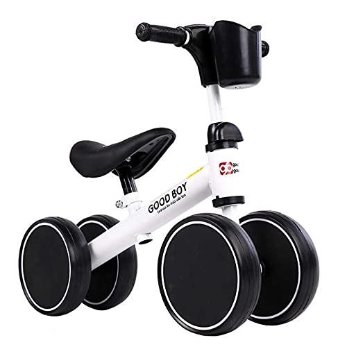 MYJOYSUE Bicicleta de Equilibrio para niños sin Pedales 1-3 años bebé niño pequeño niño pequeño Bicicleta giratoria de 4 Ruedas