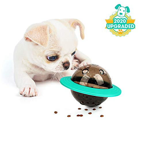 ABTOR Dog Toy Puzzle Treat Ball - Food Dispensing Slow Feeder - IQ Increasing - Fun Interactive Dog Chew Toys for Large Breed, Puppy, Small Medium Dog Playing, Reducing Boredom(<80lbs)