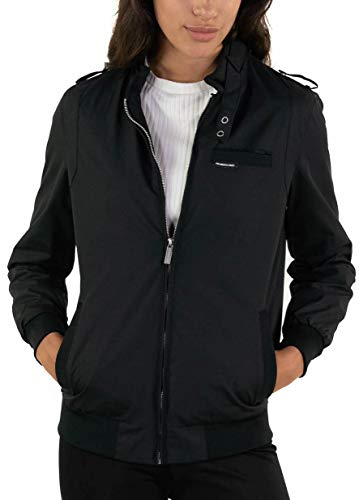 Members Only Women's Classic Iconic Racer Jacket - Black M