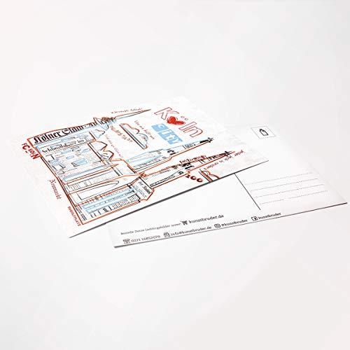 Kunstbruder Kölner Zeitungs Skyline 3er Postkarten-Set in versch. Motiven by (div. Motive)- Street Art Banksy Skyline Postkarten Din A6 14,8x10x5cm