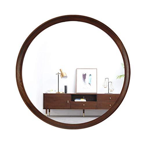 Massivholz Schminkspiegel Wandbehang Spiegel Schlafzimmer Rundspiegel Veranda Dekorative Bad Waschtisch Spiegel, Nordic