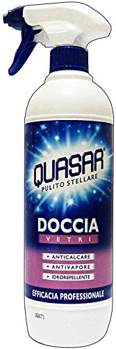 Quasar Detergente per Doccia Vetri - 5 pezzi da 650 ml [3250 ml]
