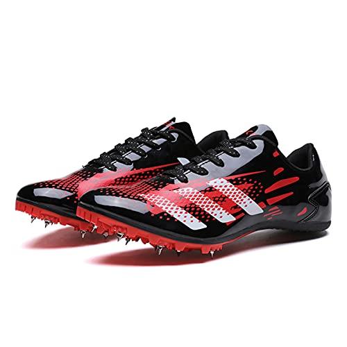 MYYU Spikes Zapatos Atletismo Zapatillas De Running Unisex Adulto,Rojo,44EU/10US