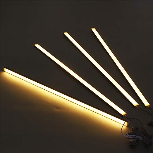 HVTKL CLAITE 4 stuks 50CM 5730SMD 30 LED onder kastlicht installatieset 1000LM 10W LED-strip licht voor onder keukenkast-kast-lamp
