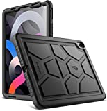 Poetic TurtleSkin Series Designed for iPad Air 4 2020 10.9 inch Case, Heavy Duty Shockproof Kids Friendly Silicone Case Cover (Revision Version), Black