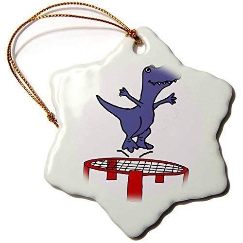 Dant454ty T-Rex Dinosaur Springen Op Trampoline Cartoon Kerst Ornamenten voor het Huis 2019 voor Vrouwen Vrienden Kids Kerstboom Ornament
