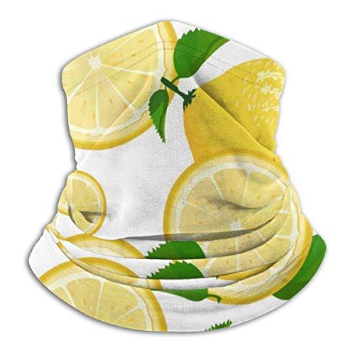Saft Limonade Grapefruit Limette Gelb Zitronenhals Wärmer Hals Gamasche Gesichtsmaske Schild Für Outdoor Winter Fleece Schal