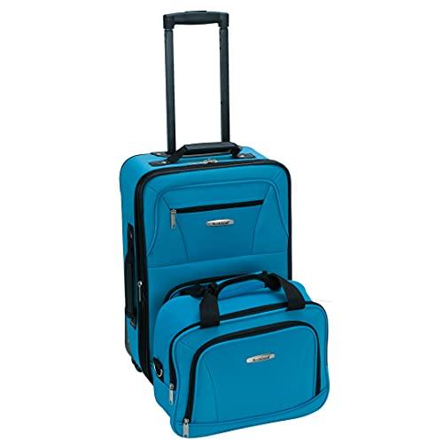Rockland Fashion Softside Upright Luggage Set, Turquoise, 2-Piece (14/19)