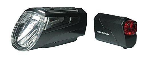 Trelock Batterie Beleuchtungsset LS 560 720 Schwarz, Black, 10 x 5 x 3 cm
