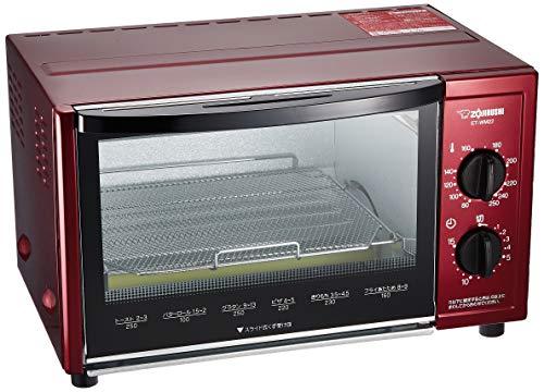 象印 オーブントースター こんがり倶楽部 80℃~250℃温度調整機能付き メタリックレッド ET-WM22-RM