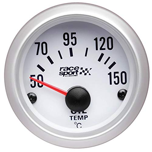 Sumex gaug528 Race Sport Olie Temp Thermometer, 12 V, wit