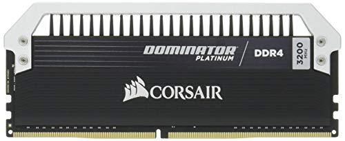 Corsair CMD16GX4M2B3200C16 Dominator Platinum Kit di Memoria per Desktop a Elevate Prestazioni, DDR4 16 GB, 2 x 8 GB, 3200 MHz, Nero