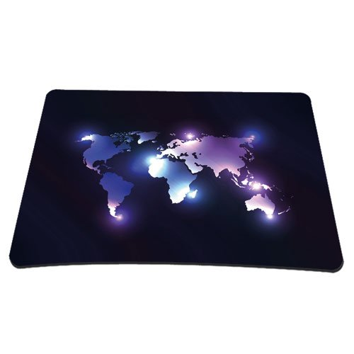 PEDEA Gaming & Office Mauspad - 220 x 180 mm -  mit vernähten Rändern & rutschfester Unterseite, Dark World