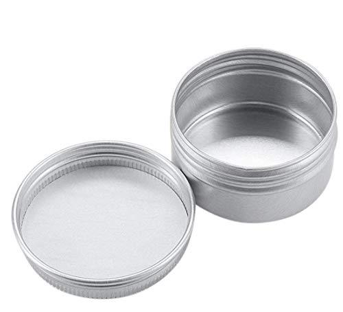 12 pcs Argent rond en aluminium vides rechargeables avec vis Coque Nail Art Crème Poisson Ligne Bocal DIY cosmétiques Container