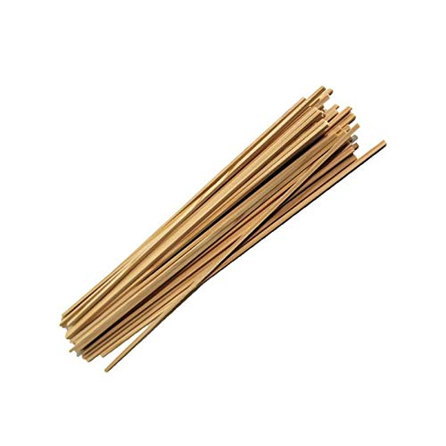 Zuckerwattestäbe Holz Vierkantstäbe für Zuckerwatte Ø 4 mm Länge 50 cm Buchenholz (100)