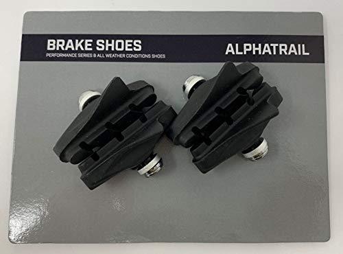 Alphatrail 4X Fahrrad Bremsbeläge Felgenbremse 55mm Rennrad Seitenzugbremse Bremsschuhe