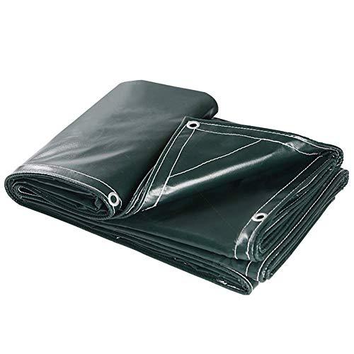 Plane, Heavy-Duty-PVC, Wasserdichte Mehrzweck-Plane, Regenschutz-Stoffanhänger für den Außenbereich FENGMING (Farbe : Grün, größe : 5x6M)