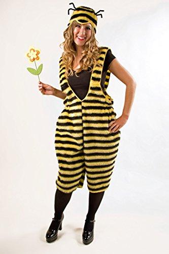 Generique Bienenkostüm für Damen Latzhose Plüsch XL