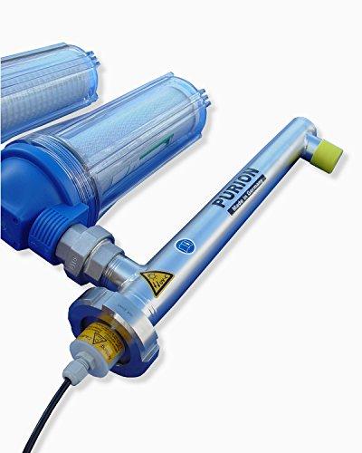 PURION 1000 Starter-Kit UV-C Anlage Desinfektion mit Schwebstoff und Aktivkohle Vorfilter (PURION 1000 Starter 110-240V)