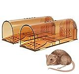 Paquete de 2 trampas para Ratones para Interiores sin Muerte, Trampa para Animales amigable y Segura, Reutilizable