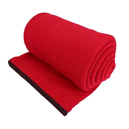 OSAGE RIVER Microfiber Fleece Sleeping Bag Liner, Red