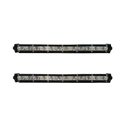 LARS360® 2 x 36W LED Arbeitslicht Offroad Flutlicht Reflektor Scheinwerfer Arbeitsscheinwerfer 6000LM Schwarz Aluminium Druckguss IP67 für SUV UTV ATV