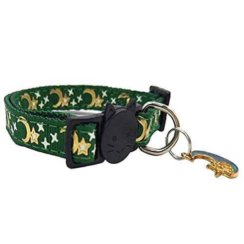Suncatchers Collari per Gatti Riflettenti Collari per Gatti Regolabili Firma a sgancio rapido per Tutti i Gatti Domestici e Gattini più Grandi (Color : Green)