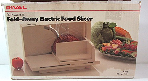Rival Delicatessen Fold Away Electric Food Slicer 1044 Ivory